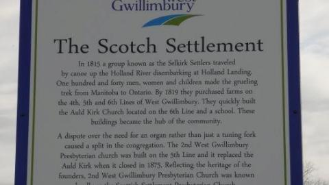 The Scotch Settlement 1819 cover photo