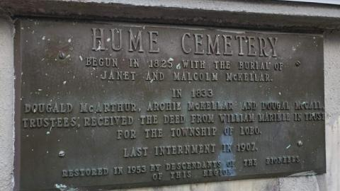 Hume Cemetery cover photo