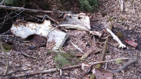 Old abandoned car remains cover photo